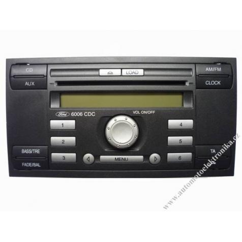 Autorádio Ford 6000 RDS CD r.v.06 stříbrná tlačítka