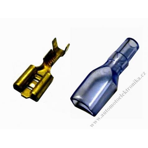 Pin 6,3 mm samostatný zásuvka s izolační návlečkou