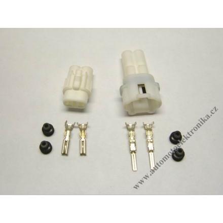 Vodotěsný konektor 2,3 x 2 bílý