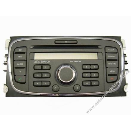 Autorádio Ford 6000 RDS CD r.v.08 tm.stříbrné