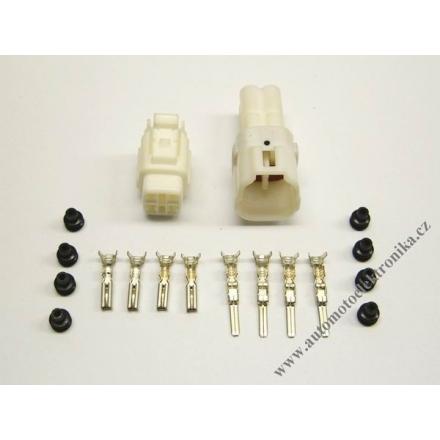 Vodotěsný konektor 2,3 x 4 bílý