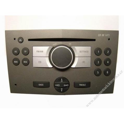 Autorádio Opel CD30 MP3 tmavě stříbrná