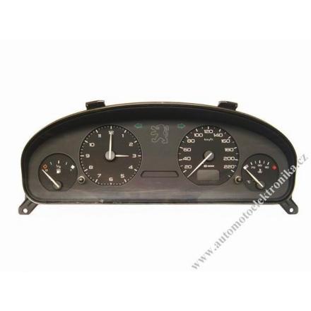 Přístrojová deska Peugeot 406 r.v.99 Sagem 9617355280F s hodinama