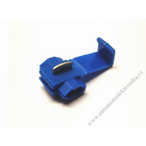 Konektor kabelová odbočka prořezávací modrá, vodič 1,4-2,63mm
