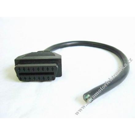 OBD II konektor zásuvka - volné vodiče