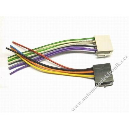 Konektory k autorádiu ISO napájení + reproduktory