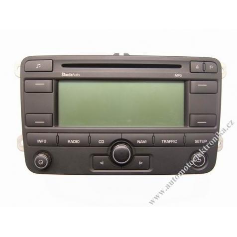 Autorádio Škoda CD MP3 a navigací Blaupunkt