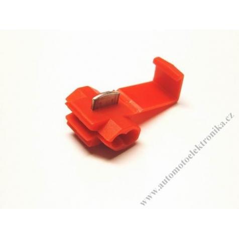 Konektor kabelová odbočka prořezávací červená, vodič 0,25-1,65mm